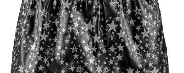 Stardust Leather Mini Skirt