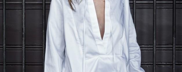 one girly white classy shirt