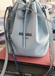 .Baby Blue Bucket Bag.