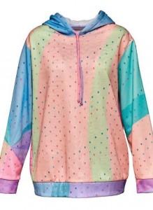 Rainbow mini skull hoodie