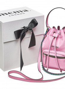 Bubblegum Pink Bucket Midi Bag