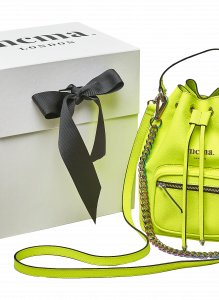Neon Yellow Bucket Midi Bag