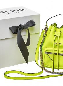 Neon Yellow Bucket Midi Bag